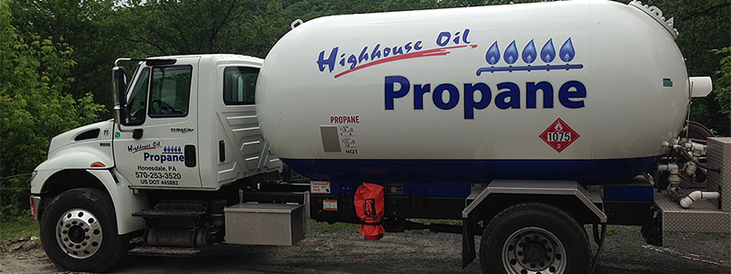 Highhouse Propane Delivery Truck